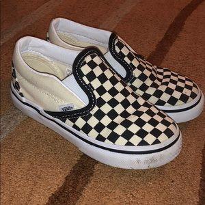 VANS Kids Classic Checkered Slip Ob
